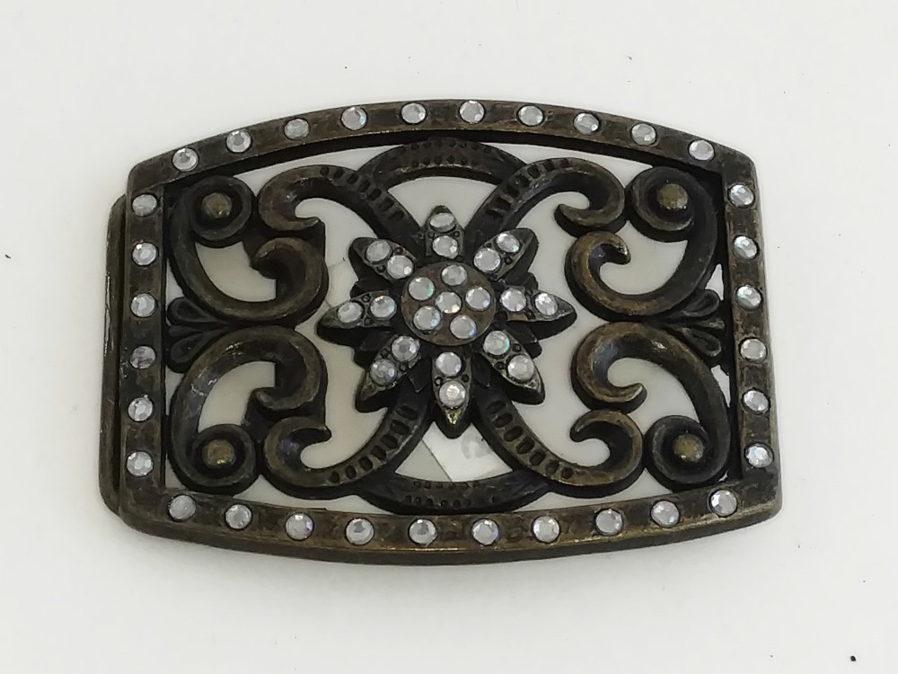 Bronze Jeweled Buckle