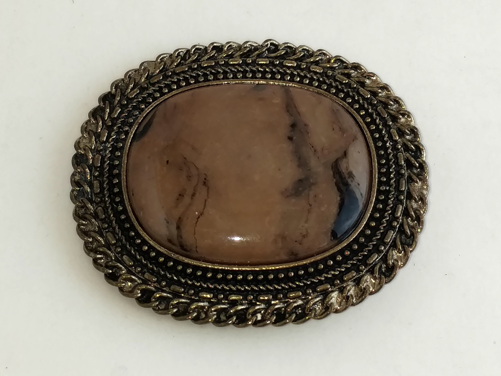 Bronze and Granite Buckle