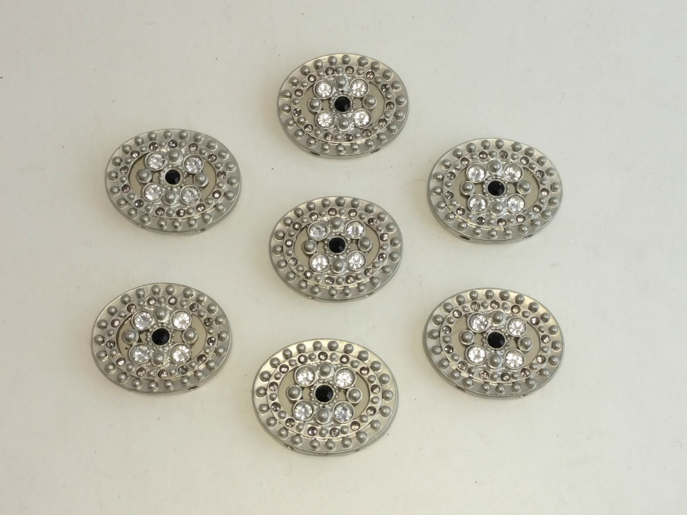 Oval Jeweled Findings