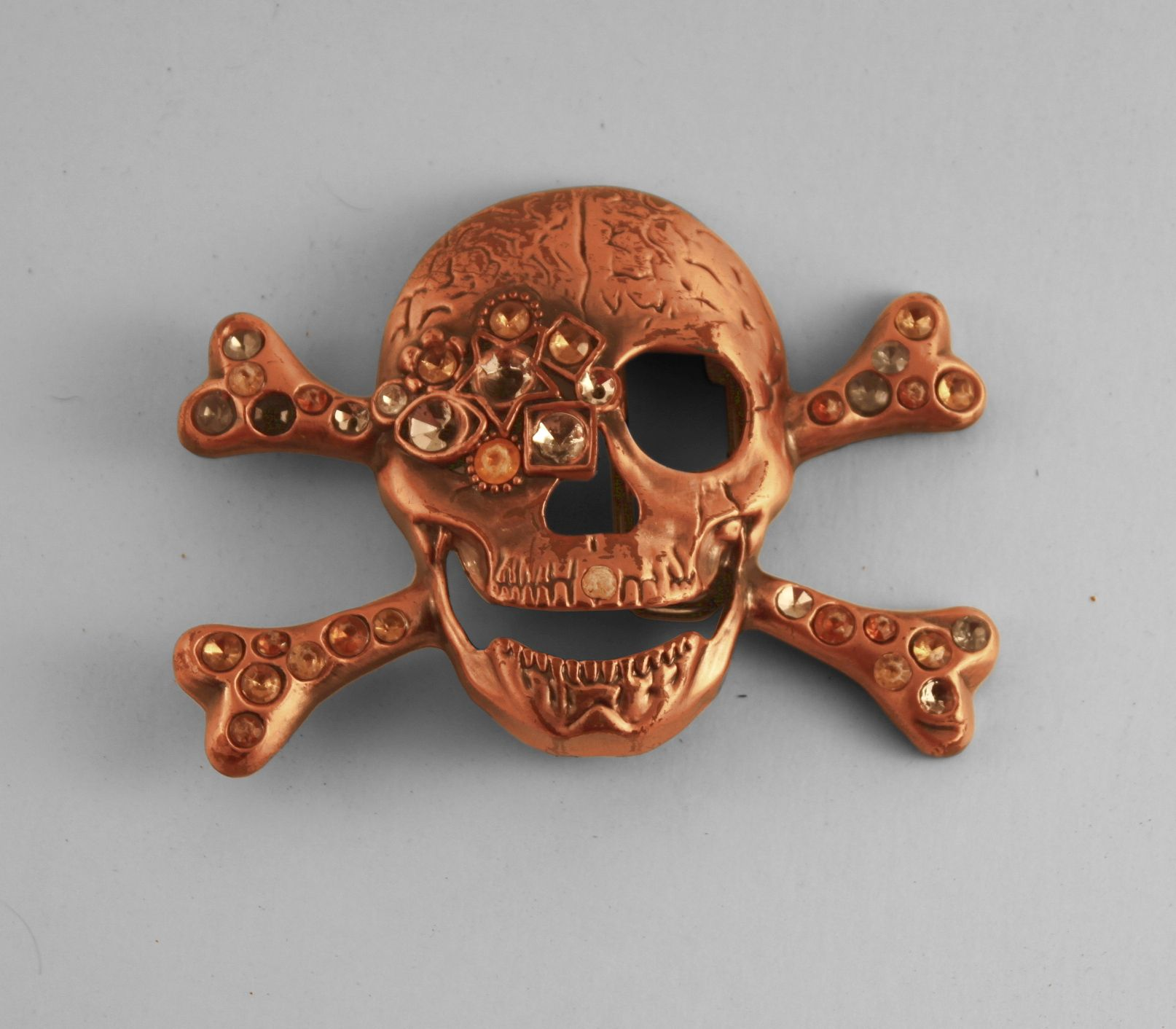 Skull design, metal belt buckle