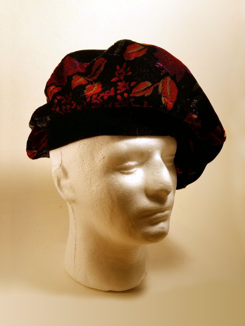 Floral-faced Bag Hat