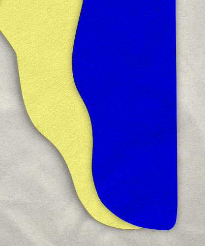 Two Color Tights - Royal Blue/Yellow, 34-38 x 30