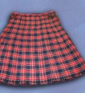 Dress Kilt - Plain weave, Red/Navy plaid