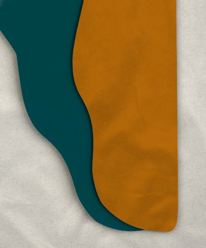 Parti-Color Tights - Caramel/Teal<br>28-33w x 30i<br>(flawed)