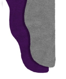 Two Color Tights - Purple/Heather Gray<br>28-33 x 28-30