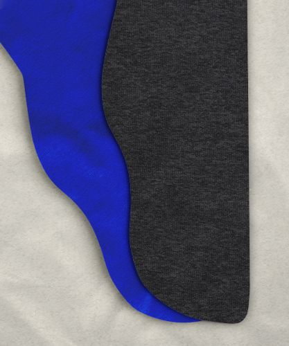 Parti-Color Tights - Heather Gray/Royal Blue<br>39-42w x 30i