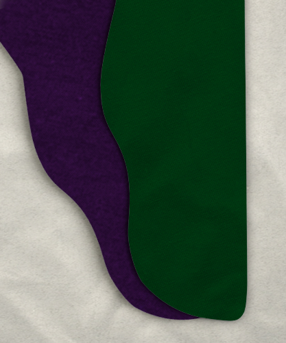 Parti-Color Tights - Hunter Green/Purple<br>43-48 x 24-25