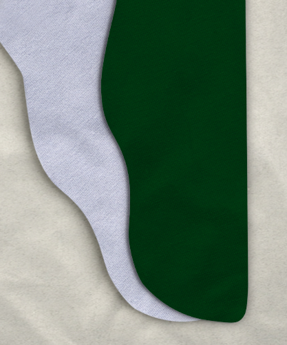 Two Color Tights - Hunter Green/White<br>34-38 x 30