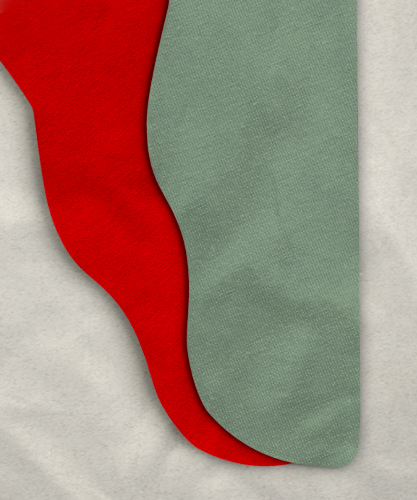 Two Color Tights - <br>28-33 x 30 Red/Sage Green