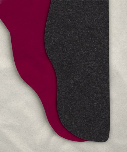 Two Color Tights: Heathered Charcoal/Wine 39-42 x 32