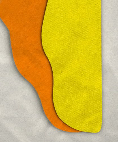 Parti-Color Tights, Orange/Yellow, 42w x 24i
